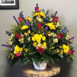 Colorful Traditional Funeral Arrangement
